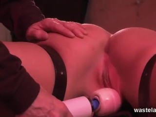 Bearded Old Maledom Owns Sexy Submissive Slut With Bondage Whips And A Magic Wand