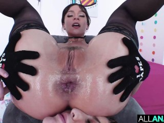 ALL ANAL Beautiful ladies Paige Owens and April Olsen take turns having their booties fucked