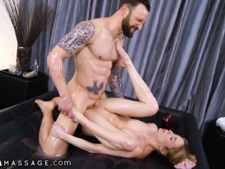 Teen Masseuse Is Hard Fingered By Client